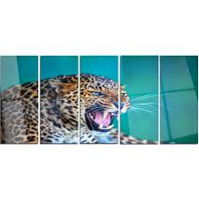 designart wild leopard close up view animal metal wall art free shipping today overstock 20474931 on leopard metal wall art with designart wild leopard close up view animal metal wall art free