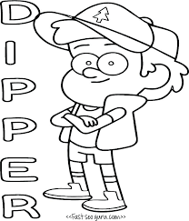 Gravity Falls Coloring Pages Mabel Bill Cipher Coloring Page