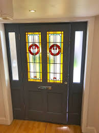 contact stained glass front door panel