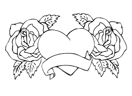 roses coloring pages 2 hearts and roses coloring pages roses coloring page roses coloring pages 2