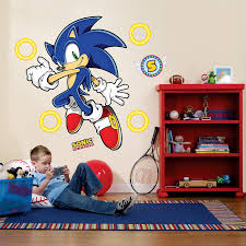 Sonic Bedroom Decor Sonic The Hedgehog Giant Wall Decals Computers A Well And Kid