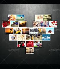 amazing collage templates in small heart template lovely photo