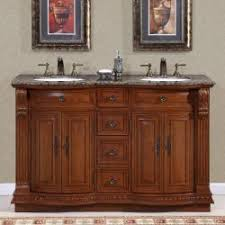 55 inch double sink bathroom vanity: silkroad exclusive granite top  inch double sink vanity cabinet
