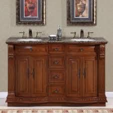 55 inch double sink bathroom vanity: silkroad exclusive granite top  inch double sink vanity cabinet