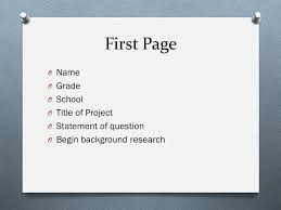 Science Fair Research Plan Ppt Download