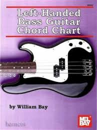 Details About Left Handed Bass Guitar Chord Chart By William Bay Fingerboard Diagram Mel Bay
