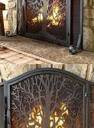 decorative fireplace screens rose screen