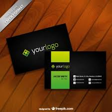 visting card format business card template with logo vector free vector download in