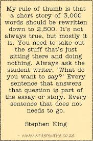stephen king on writing short stories writers write