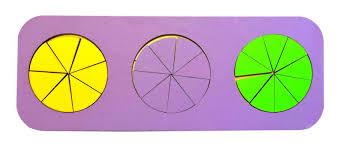 <b>Обучающая игра Taowa Дроби</b> 3 круга (вид 3) синий — купить в ...
