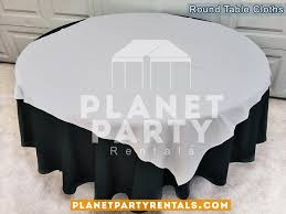 black round tablecloth with overlay 005