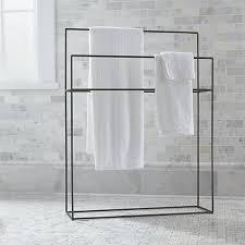 standing towel rack. JacksonStandingTowelRackSHS16 Standing Towel Rack Crate And Barrel