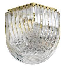 retro lucite scoop chandelier light fixture at stdibs