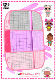 dollhouse lol surprise book bathroom for paper dolls paper craft 2