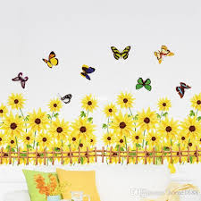 am5002 factory s sunflower skirting environmental pvc transpa wall stickers wall decor stickers wall decor stickers from home1688