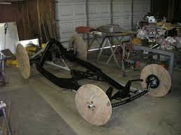 the frame on rollers during the build