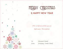 Printable Christmas Certificates Christmas Gift Certificate Templates Editable and Printable Designs 55