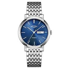 rotary men s blue dial stainless steel bracelet watch h samuel rotary men s blue dial stainless steel bracelet watch product number 4507525