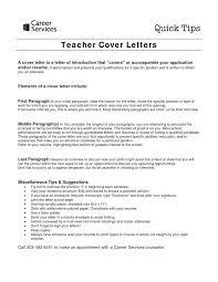 Bunch Ideas Of Trend Cover Letter For Fresher Teacher Job