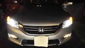 2014 Honda Accord Lights 2013 2014 Honda Accord Hid Low Beam Headlights Youtube