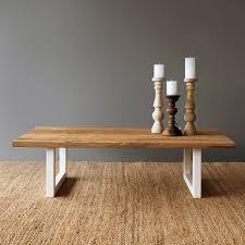 white metal furniture. Teak Coffee Table | White Metal Base Furniture