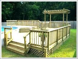 above ground round pool with deck. Exellent Ground Above Ground Pool Deck Designs Free Plans   With Above Ground Round Pool Deck L