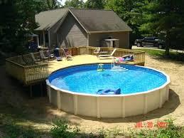 Round Pool Deck Plans Decorating Ideas For Enjoying Freshness Patio On