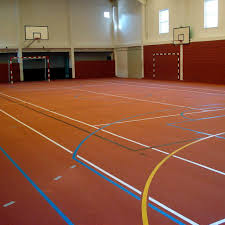 synthetic sports flooring recycled rubber for indoor use for multipurpose gyms sportec uni classic