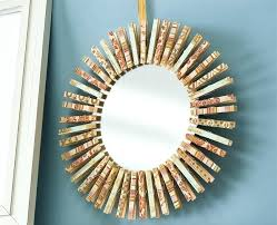 Diy mirror frame ideas Creative Diy Clothespin Mirror Diy Frame Ideas Wall Creative Itforumco Diy Mirror Frame Ideas Itforumco