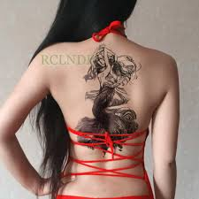 водостойкая временная татуировка стикер женский большой размер на