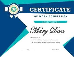 7 Certificates Of Completion Templates Free Download Perfect