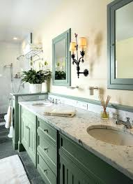sage green bathroom sage green color bathroom farmhouse with built in medicine cabinets natural finish vanity
