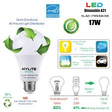 Hylite Eco Lighting Hylite Led Lighting Hl A21 17wd E26 50k Energy Star A21 17w