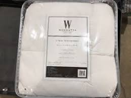 twin mattress pad.  Mattress Image Is Loading WamsuttaQuiltedTopFeatherbedTwinMattressTopperin Inside Twin Mattress Pad E