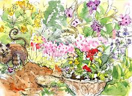 Small Picture Pencil Drawing Flower Garden And Sketches Of Sketch Garden Trends