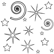 Small Picture Fireworks and Swirls Coloring Page Leap Day