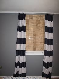Plain Black And White Curtains Horizontal Stripe Curtainss To Decor