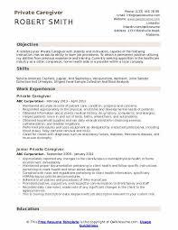 Private Caregiver Resume Samples Qwikresume
