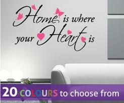 HOME IS Where Your HEART IS Quote Wall Sticker Decal With Hearts And Adorable Home Is Where The Heart Is Quote