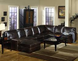 usa premium leather 9935 track arm sofa chaise sectional inside well known brown leather sectionals with