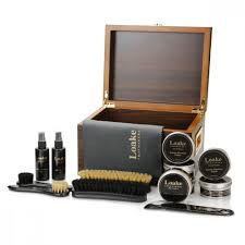 details about loake luxury valet box shoe boot care kit cleaner wax brush protector polish