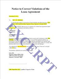 Lease Violation Form Lease Violation Notice Template Landlord Eviction Notice Template