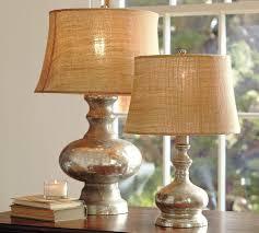 image of classic mercury glass table lamp