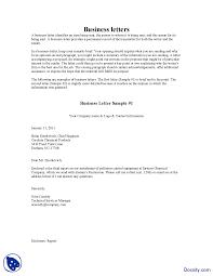 Business Letter Samples Business Communication Lecture Handout