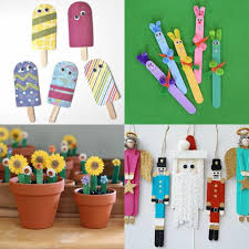 Popsicle sticks can be used in so many easy kids' crafts, whether your kids  want to paint a simple bookmark or construct their own sculpture.