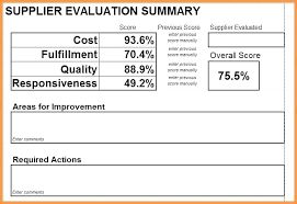 Supplier Scorecard Template Excel Supplier Performance Measurement Template Excel Sohbetciyiz Club