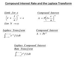 Laplace And Compound Interest Financialinterferometry Com