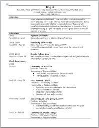 resume australia example