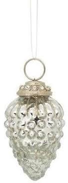 Zapfenhänger Christbaumschmuck Antik Stil Glas Metall
