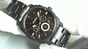 men s black fossil machine chronograph watch fs4682 men s black fossil machine chronograph watch fs4682